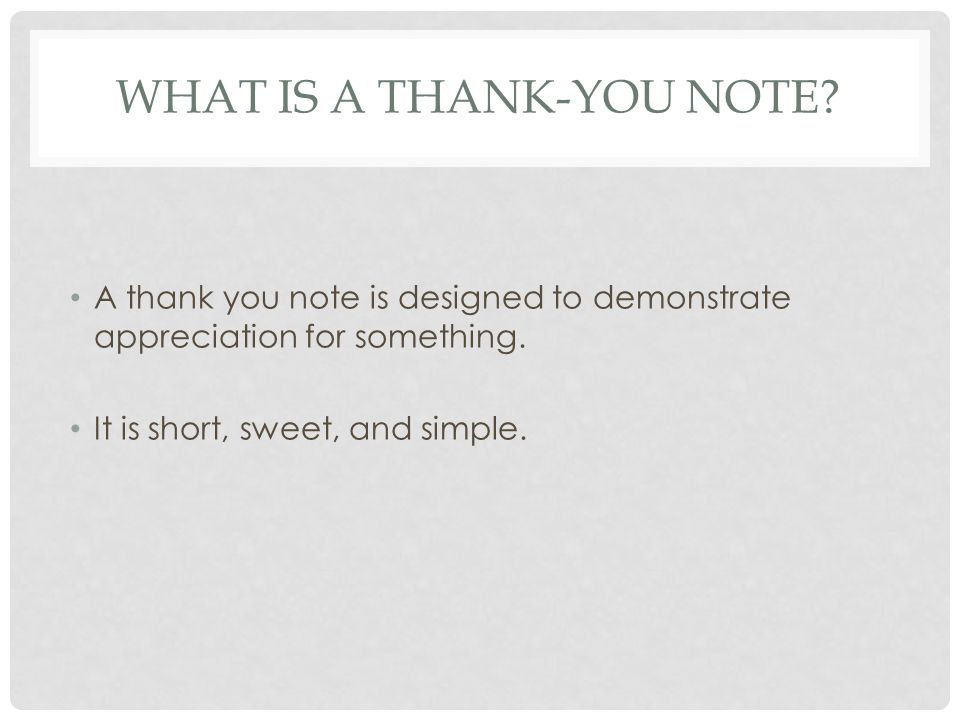 What is a Thank-you Note