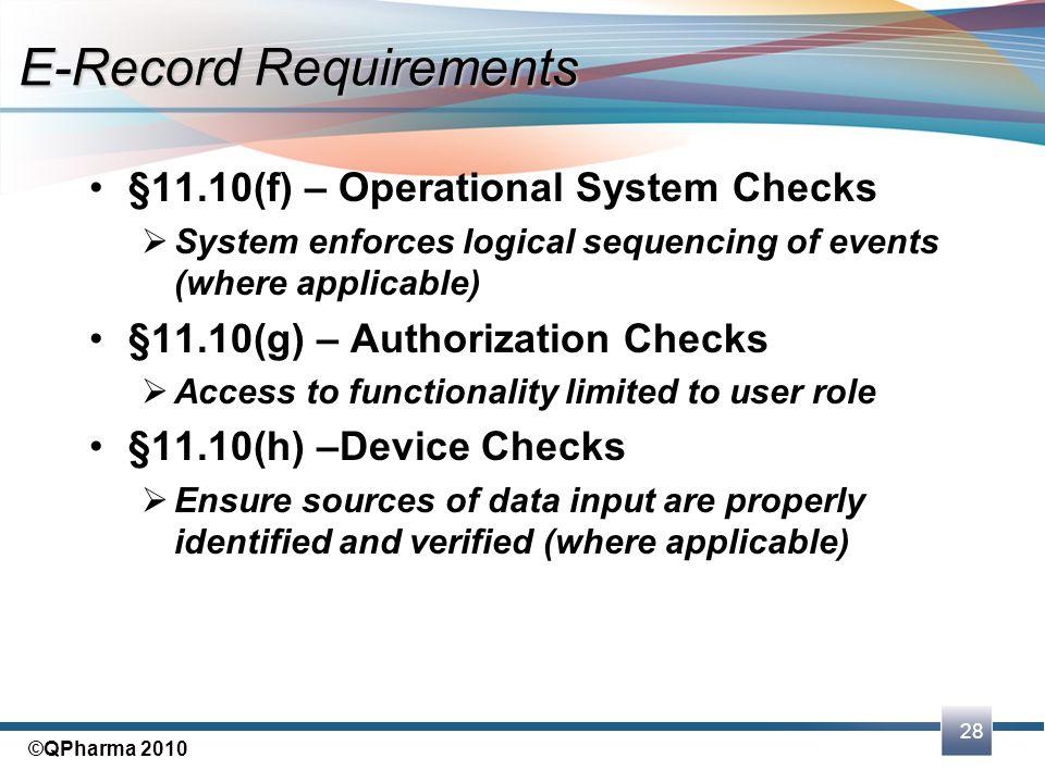 E-Record Requirements