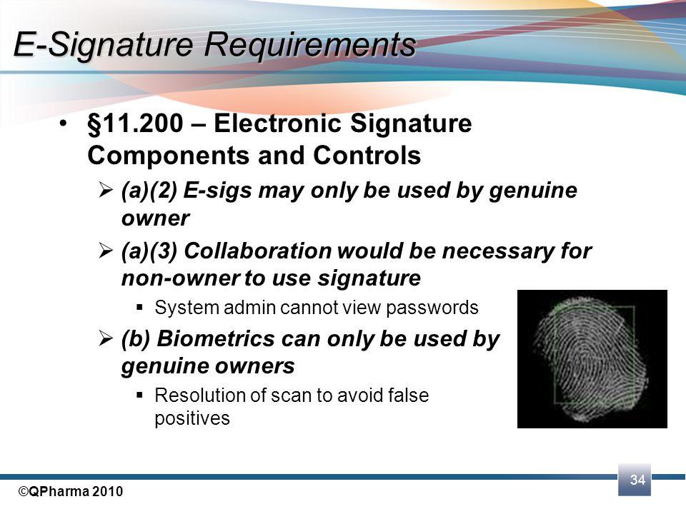E-Signature Requirements