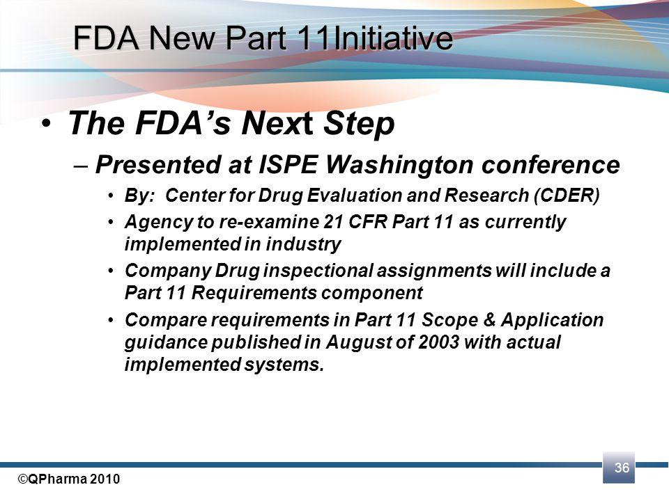 FDA New Part 11Initiative