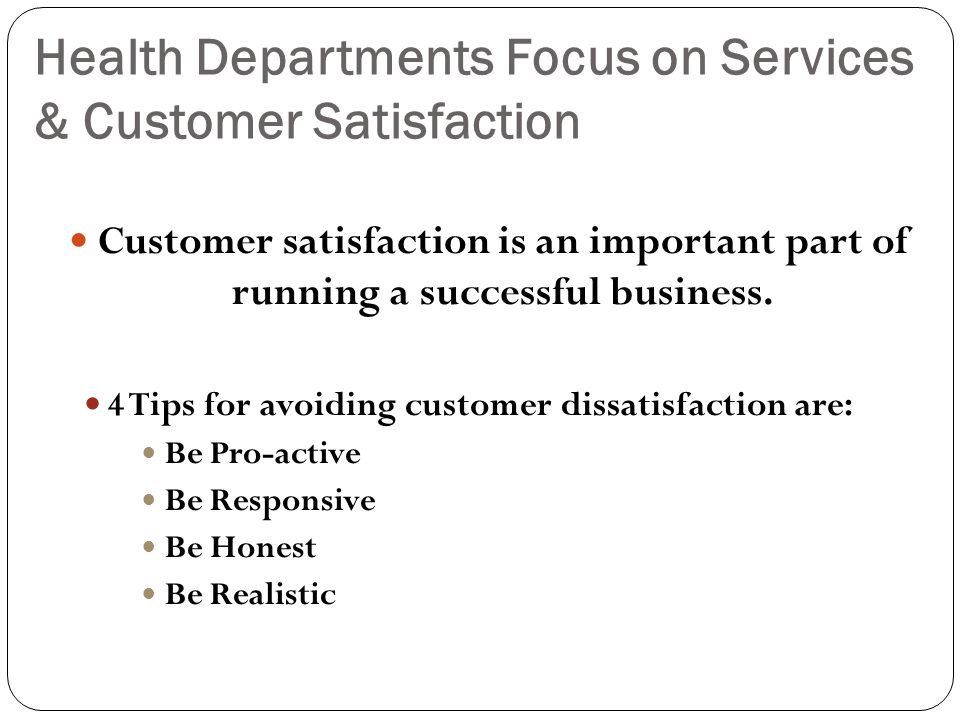 Health Departments Focus on Services & Customer Satisfaction