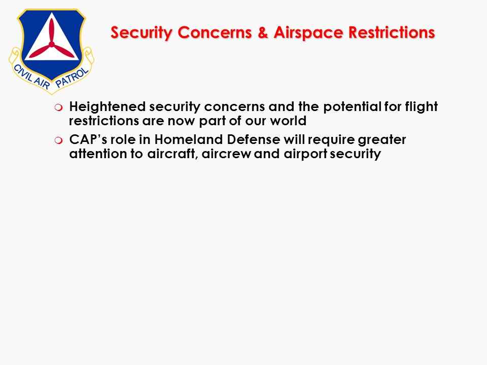 Security Concerns & Airspace Restrictions