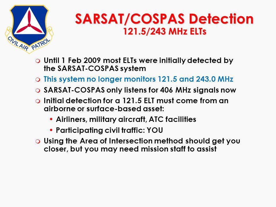 SARSAT/COSPAS Detection 121.5/243 MHz ELTs