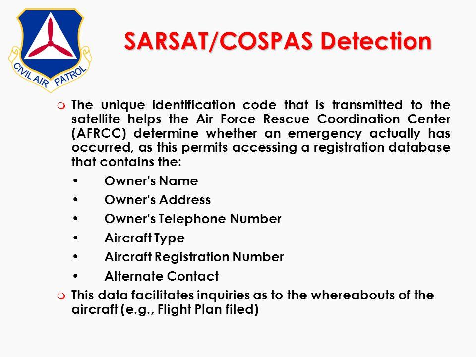 SARSAT/COSPAS Detection