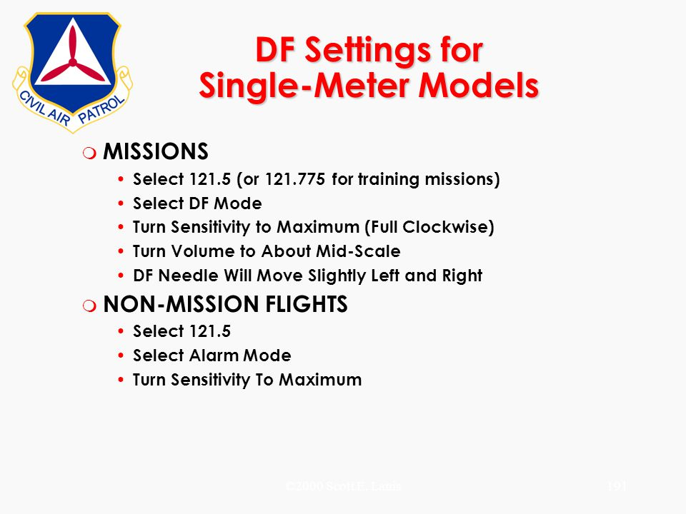 DF Settings for Single-Meter Models