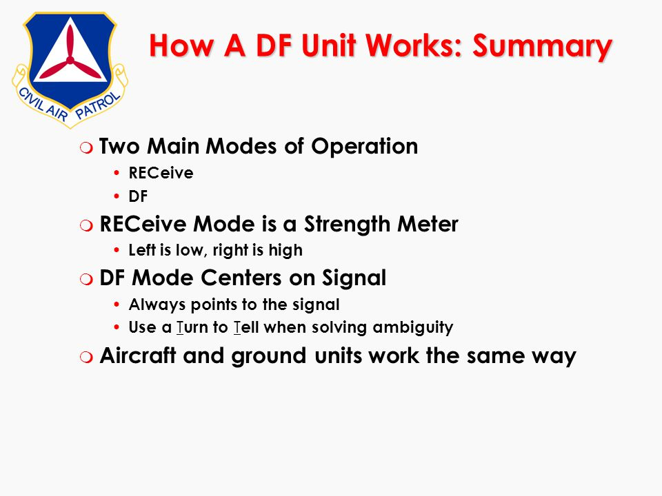 How A DF Unit Works: Summary
