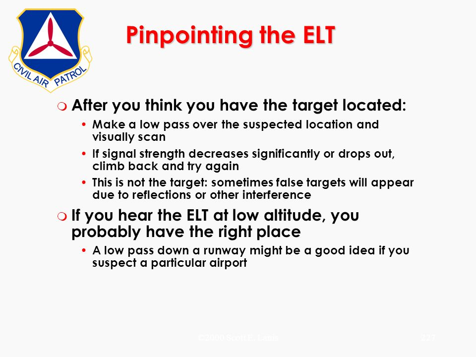 Pinpointing the ELT After you think you have the target located: