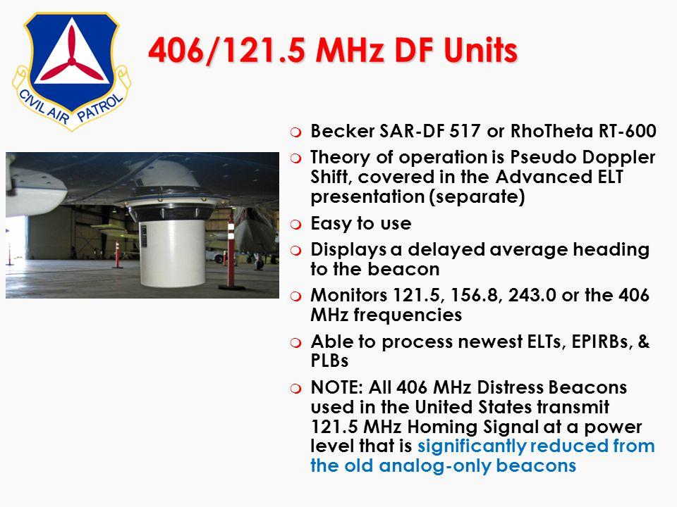 406/121.5 MHz DF Units Becker SAR-DF 517 or RhoTheta RT-600