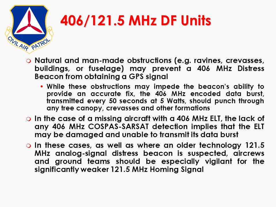 406/121.5 MHz DF Units