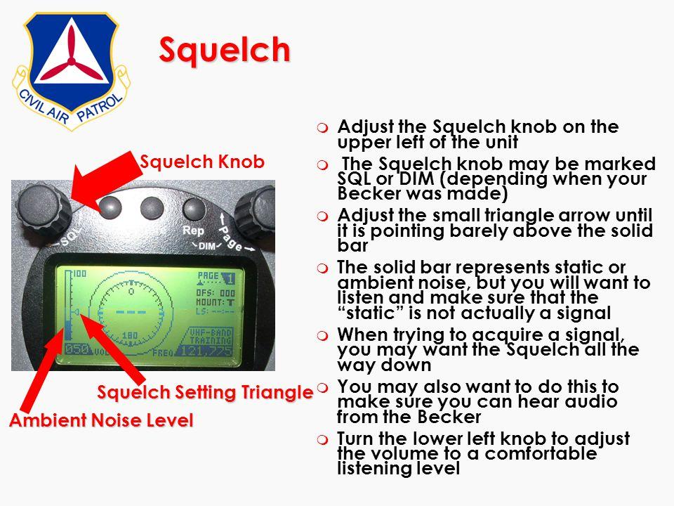 Squelch Setting Triangle