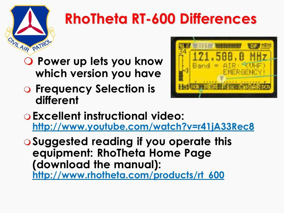 RhoTheta RT-600 Differences