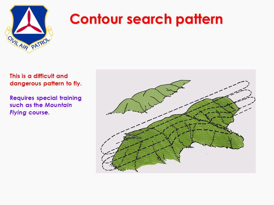 Contour search pattern