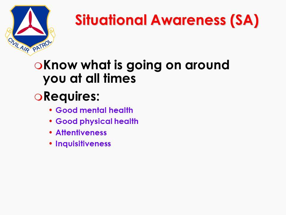 Situational Awareness (SA)