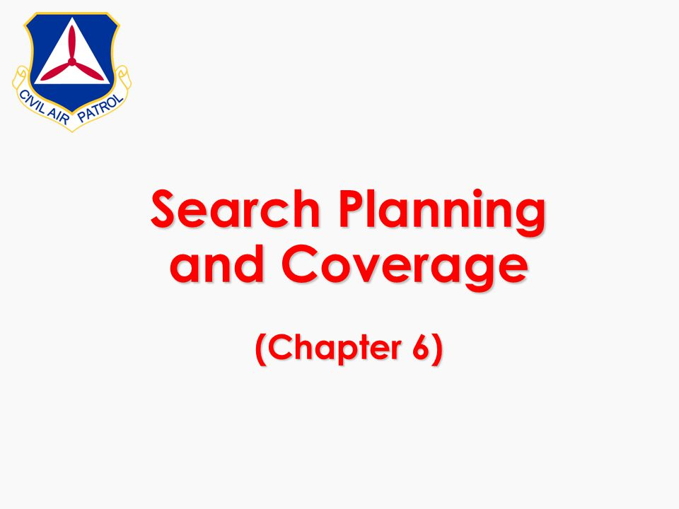 Search Planning and Coverage (Chapter 6)