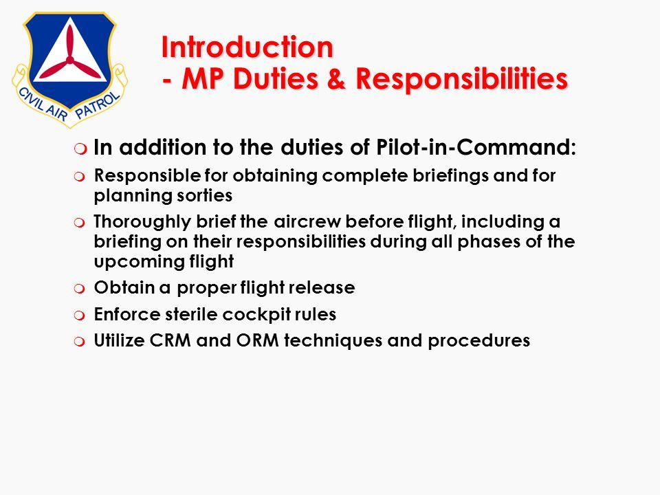 Introduction - MP Duties & Responsibilities