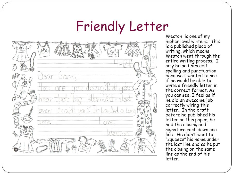 Friendly Letter