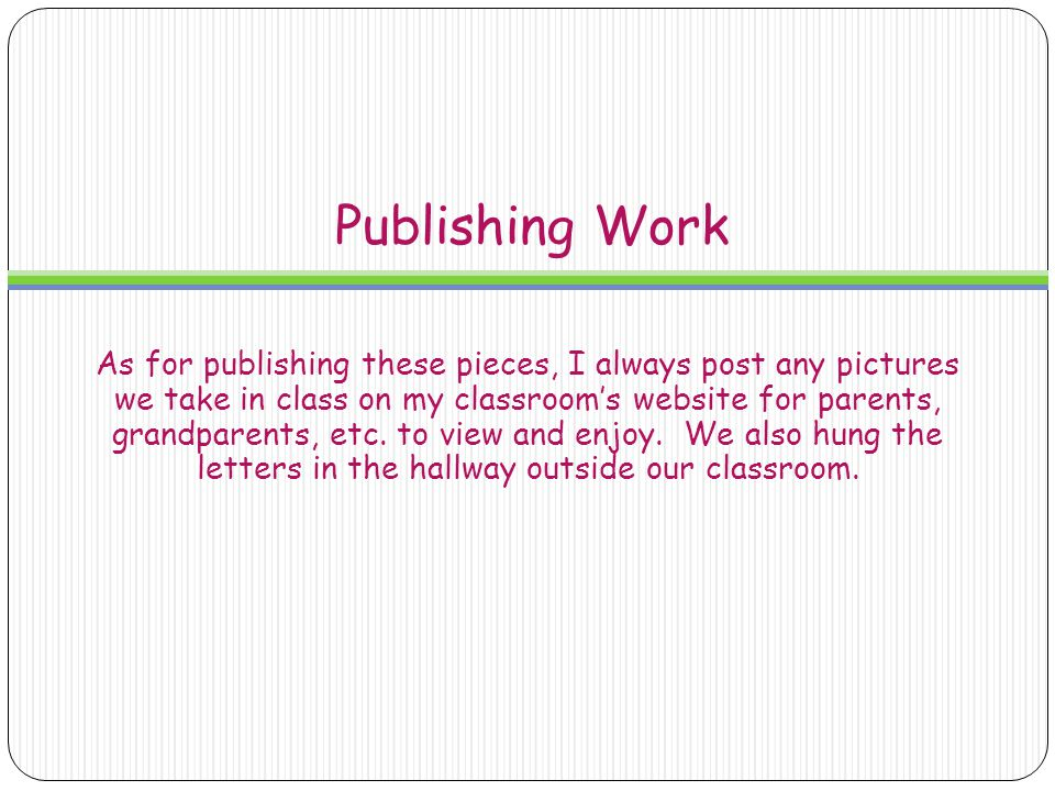 Publishing Work