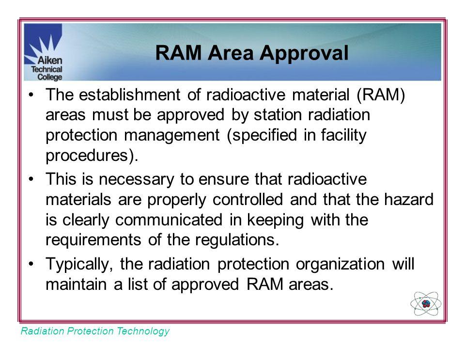 RAM Area Approval