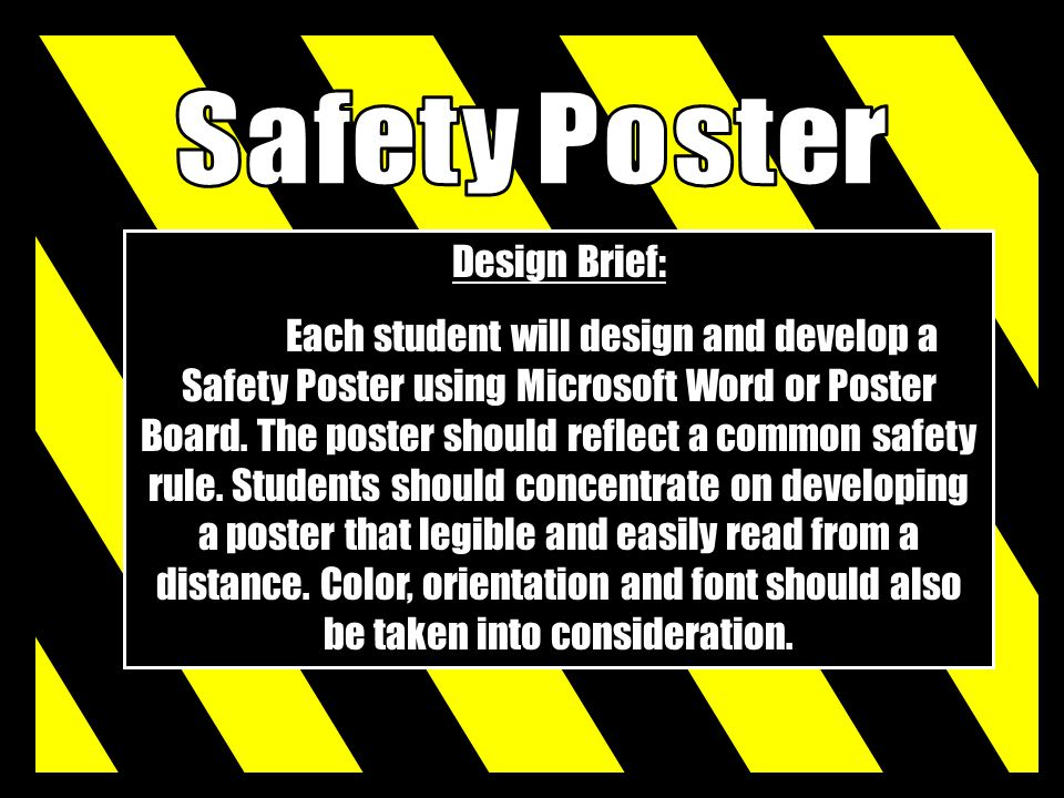 Safety Poster Design Brief: