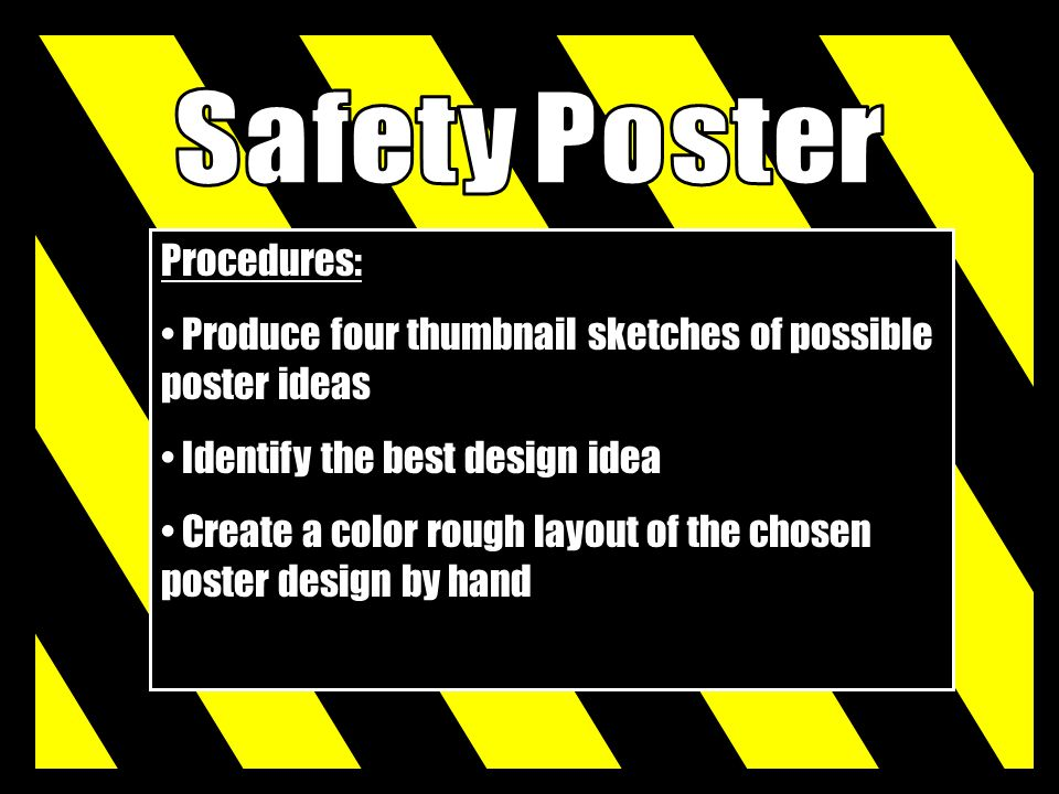 Safety Poster Procedures: