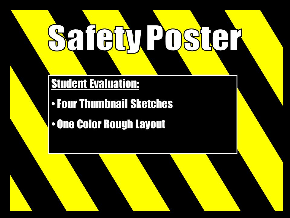 Safety Poster Student Evaluation: Four Thumbnail Sketches