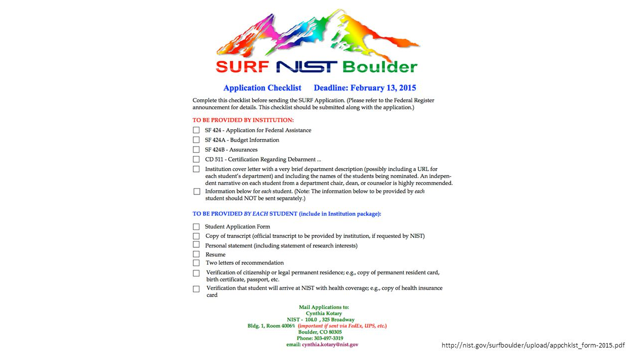 http://nist.gov/surfboulder/upload/appchklst_form-2015.pdf