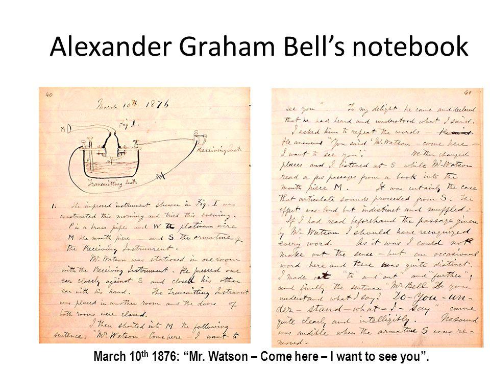 Alexander Graham Bell's notebook