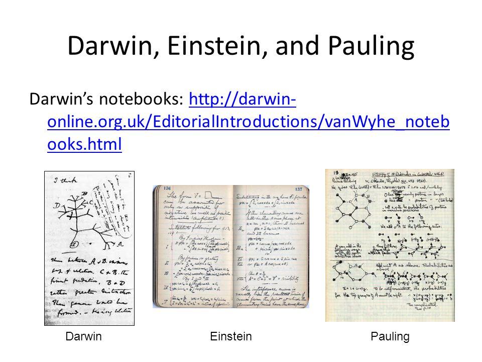Darwin, Einstein, and Pauling