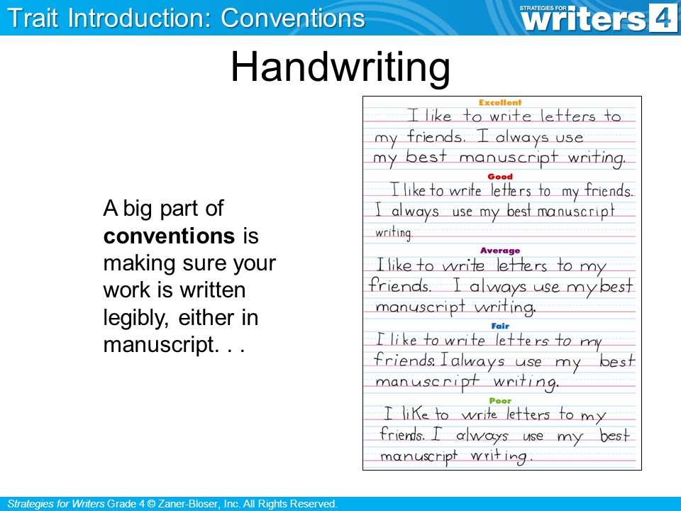 Handwriting Trait Introduction: Conventions