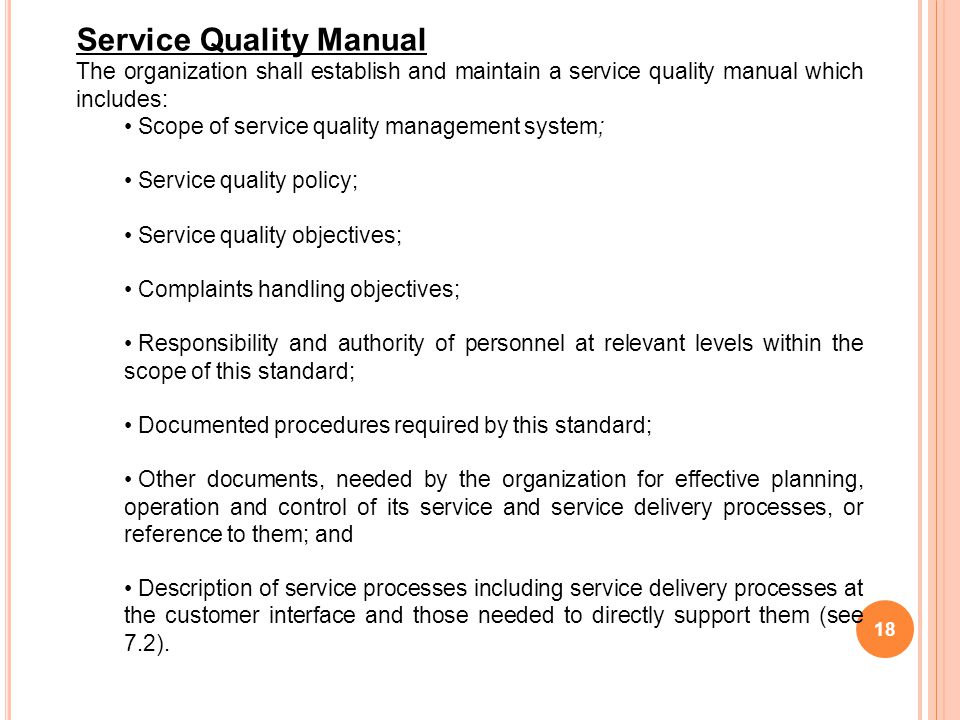 Service Quality Manual