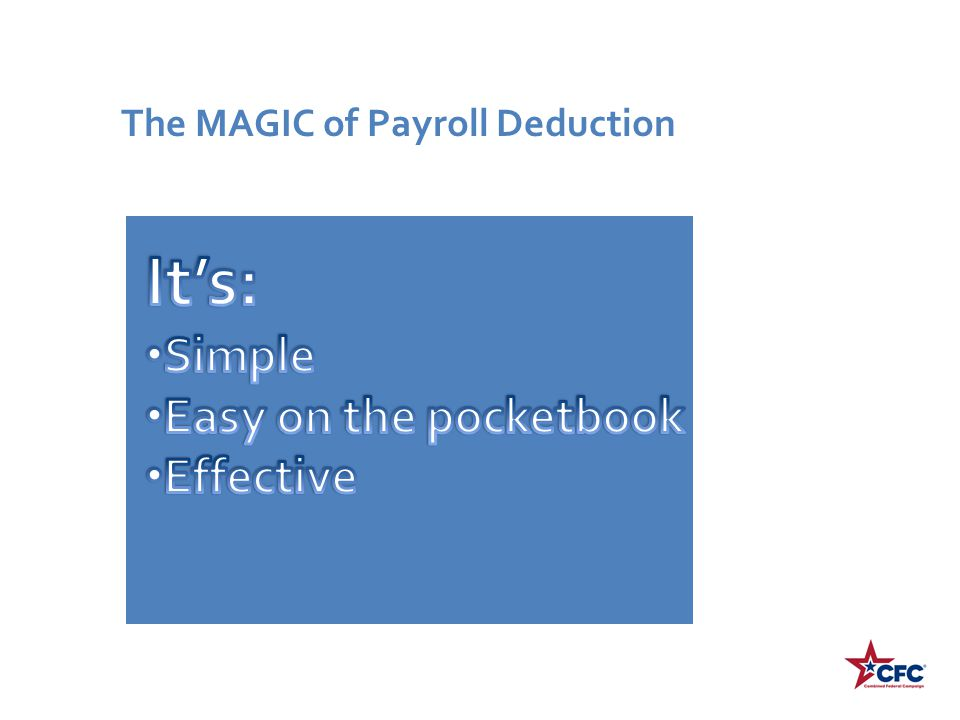 It's: Simple Easy on the pocketbook Effective