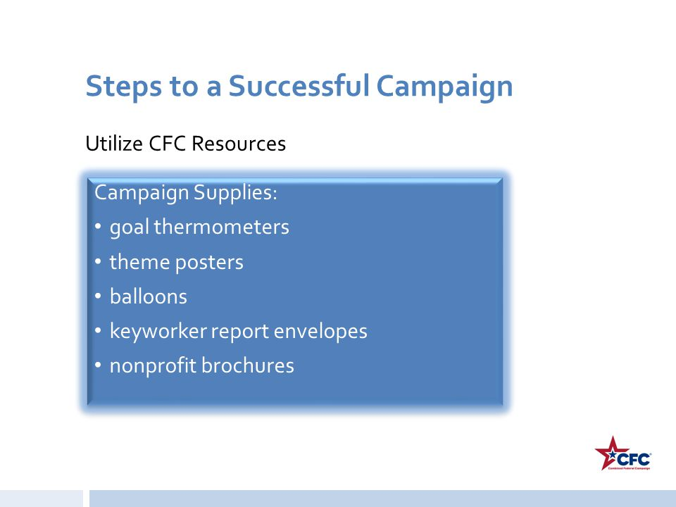 Steps to a Successful Campaign