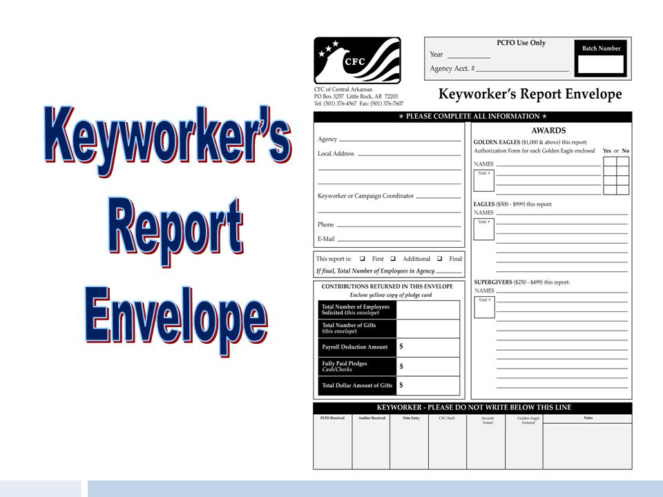 Keyworker's Report Envelope
