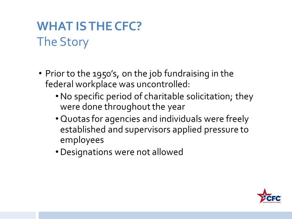 WHAT IS THE CFC The Story