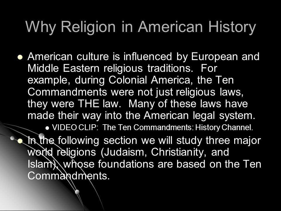 Why Religion in American History