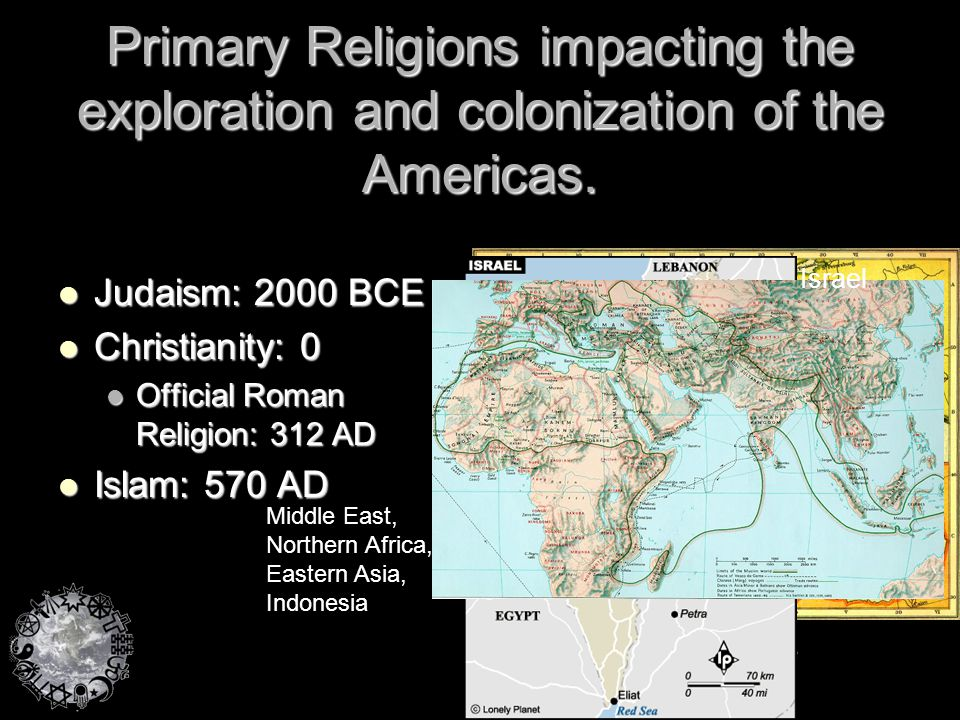 Primary Religions impacting the exploration and colonization of the Americas.