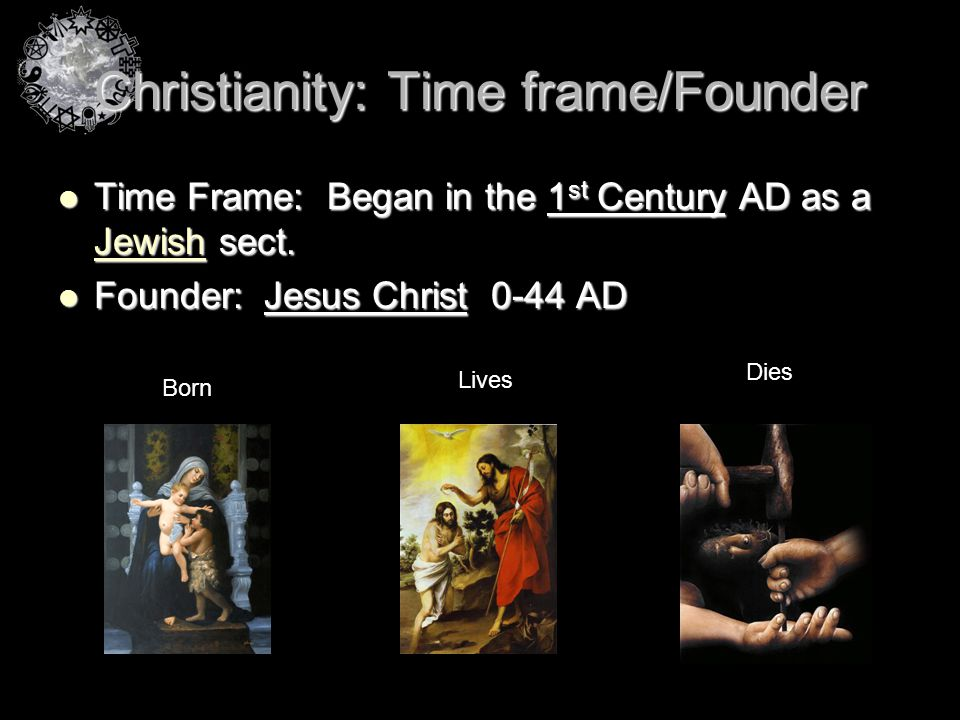Christianity: Time frame/Founder