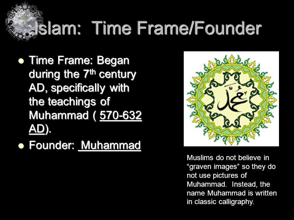 Islam: Time Frame/Founder
