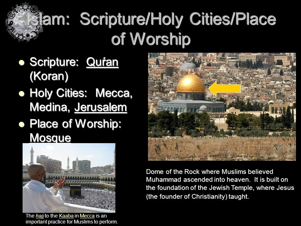 Islam: Scripture/Holy Cities/Place of Worship