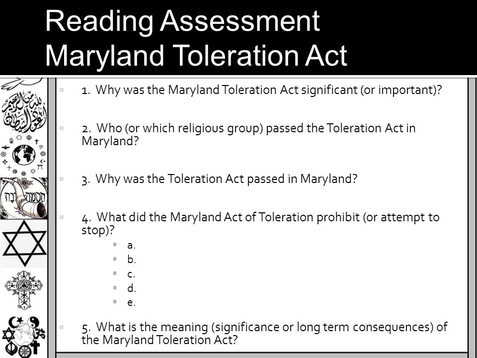 Maryland Toleration Act
