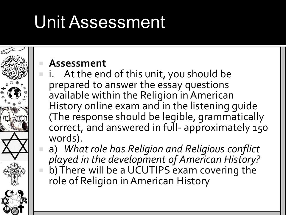 Unit Assessment Assessment