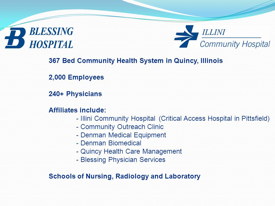367 Bed Community Health System in Quincy, Illinois
