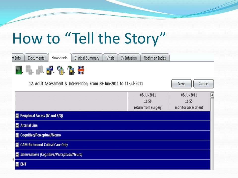 How to Tell the Story