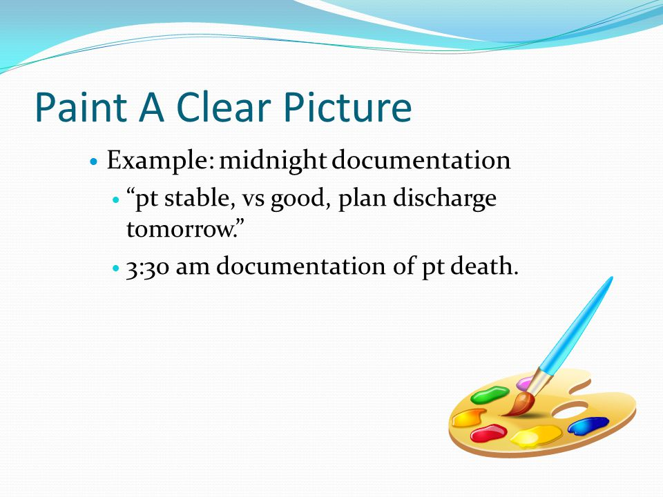 Paint A Clear Picture Example: midnight documentation