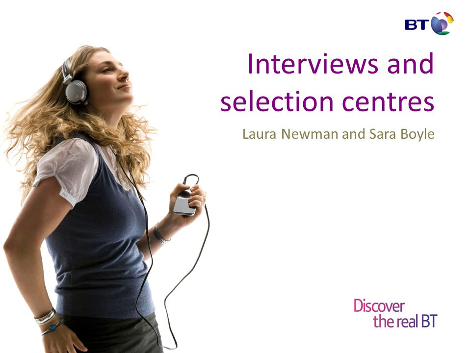 Interviews and selection centres