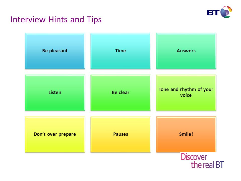 Interview Hints and Tips
