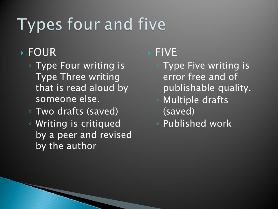 Types four and five FOUR FIVE