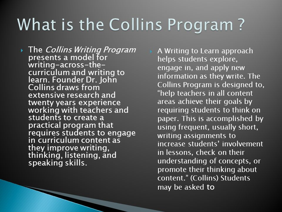 What is the Collins Program