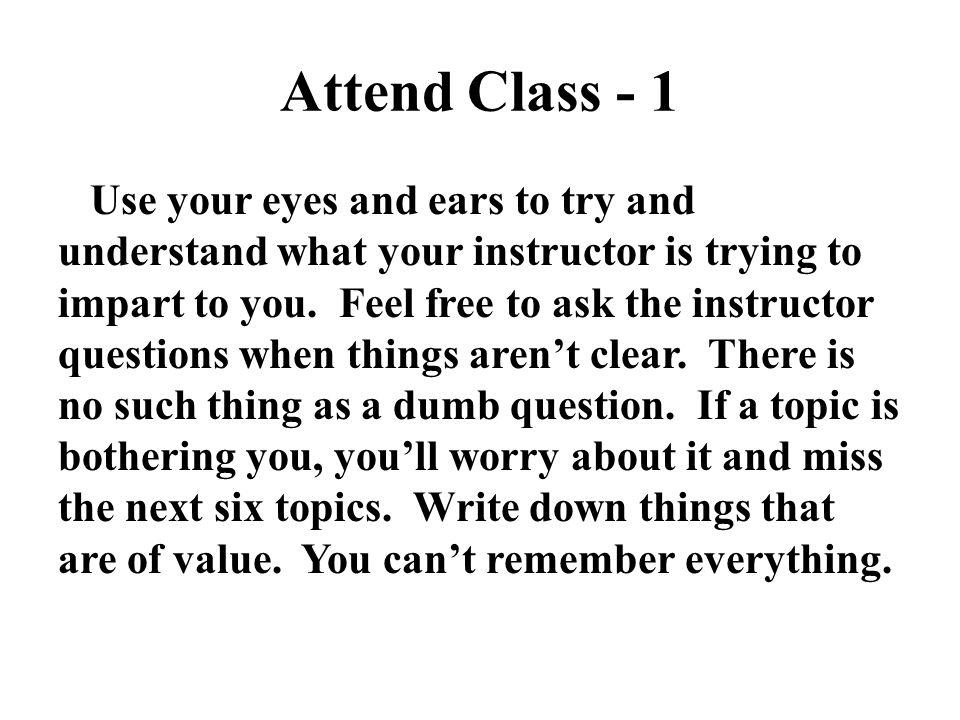 Attend Class - 1