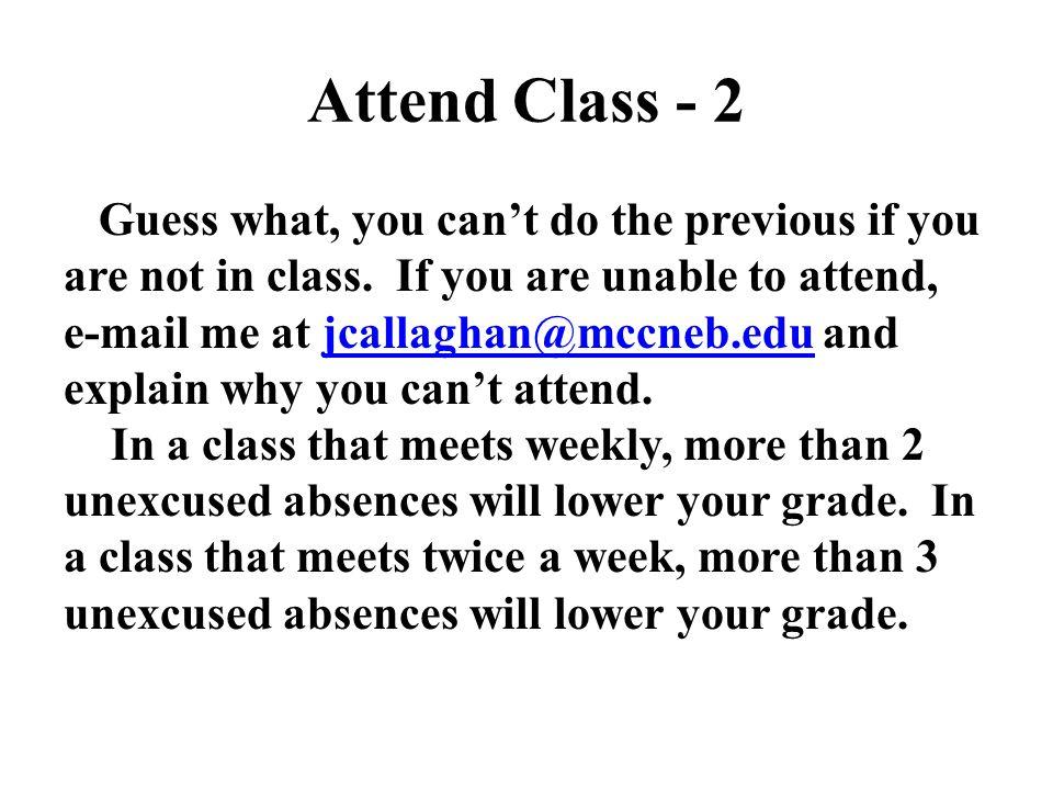 Attend Class - 2